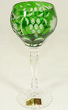 ANNAHÜTTE - Römer WEINGLAS Weinkelch Glas BLEIKRISTALL Rotweinglas - GRÜN TRAUBE