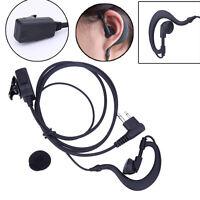 2 Pin Headset Mic PTT Tube Earpiece Earphone for Motorola CP88 CP040 P040 Radio