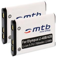 2xBatterie Li-40b/Li-42b pour Olympus TOUGH TG-320 Olympus mju 7050 VR-325 VR330