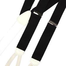 BROOKS BROTHERS Dapper Black White Gentleman's Silk Suspenders Braces 8017