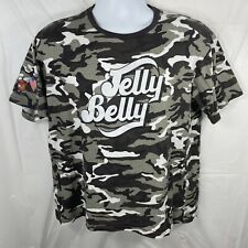 Jelly Belly Jelly Beans Adult Medium Camouflage Gray Black White Graphic T-shirt