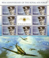 HUGH DOWDING (WWII Fighter Command) Spitfire Aircraft RAF Stamp Sheet