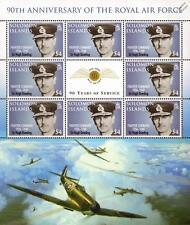 HUGH DOWDING (WWII Fighter Command) Spitfire Aircraft RAF Stamp Sheet