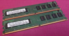 2GB Juego Samsung M378T2863QZS-CF7 PC2-6400U 800MHz Non-ECC DDR2