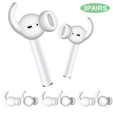 For Apple AirPods Anti-Slip Silicone Ear Hooks Covers Featuring Bass Enhancement