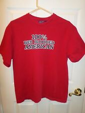 Red 100% Red Blooded American  T-Shirt Vintage LARGE