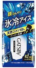 MANDOM Gatsby IceDown Deodorant Body wipe Paper 42 Sheets Japan Free shippng