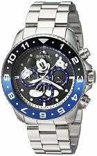 Invicta 24952 Disney Limited Edition Men's 44mm Stainless Steel Black Dial Watch