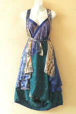 "M661 Reversible Vintage Silk Magic 30"" Length Wrap Skirt Halter Tube Dress + DVD"