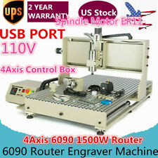 New listing Usb 6090 4 Axis Vfd Router Engraver 1500W Spindle Engravering Mill Machine