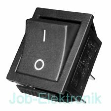 Wippschalter 0-1 2-polig schwarz Schalter Kippschalter Netzschalter 230V