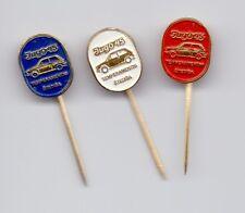 THREE pins ZASTAVA YUGO 45 YUGOSLAVIA, pin, badge, car, cars