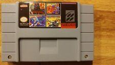 super nintendo games (sunset riders + megaman7 & X + Hagane ) 4 in 1 for SNES