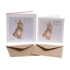 White Christmas - Rabbit Christmas Card Box Set - 8 Cards & Envelopes - Wrendale