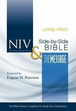 Niv And The Message Side-By-Side Bible, Large Print: Two Bible Versions Toget...