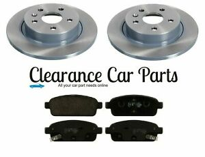 FOR CHEVROLET ORLANDO 1.4 1.8 2.0 REAR BRAKE DISCS AND PADS 2012 ONWARDS 292MM