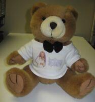 Britney Spears Stuffed Plush Teddy Brown Bear Bow Tie T-Shirt S. Smith Souvenir