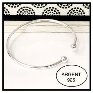 Bracelet jonc rigide en argent   925 Avec Poinçon