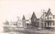 Cedar Grove WI Dirt St Homes~I Earn $9 A Day Canning Peas (Dutch Co?) RPPC 1908