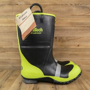 LaCrosse Scout 2000 Mens Rubber Firefighting Made with Kevlar Bunker Boots 15