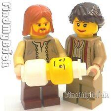 M795 Lego Joseph Mary & Baby Jesus Custom Minifigures Christmas God Bible NEW