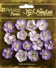 Forget Me Nots LAVENDER 16 Paper Flowers 20mm across Penny Lane Petaloo11
