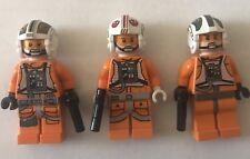 LEGO Star Wars Rebel Pilot  Minifigures Set of 3 - Luke, Dutch, Zev ! FREE SHIP