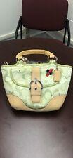 Limited Edition COACH Green Signature C Ladybug Medium Shoulder Handbag 5621