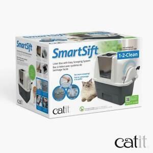 Catit SmartSift Cat Toilet Lettiera Chiusa Autopulente per Gatti Vaschetta Gatti
