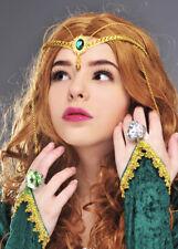REGINA MEDIEVALE verde gioiello della corona Copricapo
