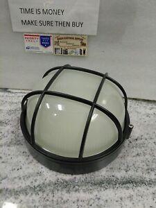 "Trans Globe Lighting 41515 BK Outdoor Aria 10"" Bulkhead, Black(#28B"