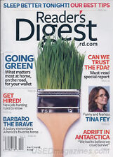 Magazine Reader's Digest March 2008 Tina Fey Going Green Can We Trust the FDA?