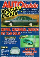A18- Auto Hebdo N°549 Opel Omega 3000 et 2.0 GLS,La P29 Matra du futur