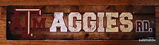 Texas A&M AGGIES RD Street Sign Plastic Licensed College University Dorm Decor