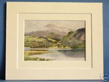 CONISTON LAKE DISTRICT CUMBRIA VINTAGE DOUBLE MOUNTED HASLEHUST PRINT 10 X 8