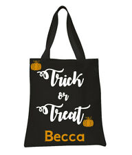 Personalized  Halloween Trick or Treat Bag Tote