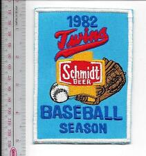 Beer Baseball Minnesota Twins & Schmidt Beer 1982 American League AL Promo Patch