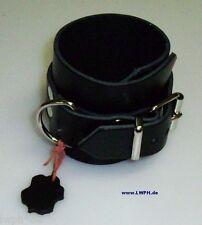 universal Lederarmband schwarz 26,5 x 6,5 cm mit Schmuck-Ring und Ziernieten wow