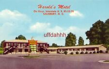 HAROLD'S MOTEL, SALISBURY, NC. Mr & Mrs Harold Poole, Owners
