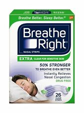 "Breathe Right EXTRA  ""50% stärker"" 26 Nasenpflaster in transparent, besser atmen"
