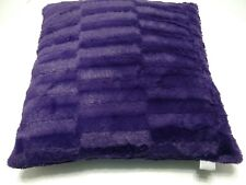 Thro Faux Fur Throw Pillow by Marlo Lorenz Square Purple