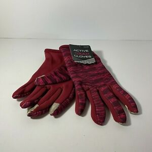 Active Touch Red Sport Glove One Pair