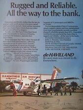 4/1982 PUB DE HAVILLAND CANADA TWIN OTTER HAMMONDS AIR SERVICE ORIGINAL AD
