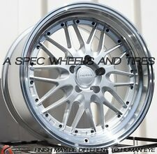 18x9.5 ROTA KENSEI WHEELS RIMS 5X114.3 25MM IN SILVER W/POLISH LIP (SET OF 4 )