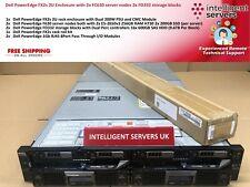 Dell FX2s 2x FC630 Server 2x FD332 19.2TB SAS Storage 1GbE 2U Rack Enclosure
