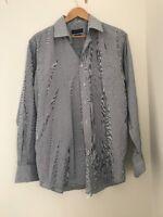 Men's Shirt A.w Dunmore 16 1/2 Blue Long Sleeve <JJ3552z