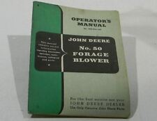 John Deere Operators Manual #50 Forage Blower