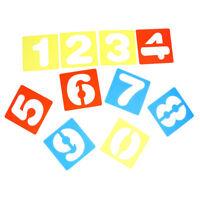 10 pezzi 0-9 numeri arabi modelli di disegno stencil righello materiale