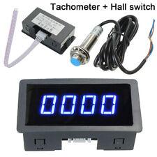 Bleu numérique Compteur horaire LCD tachymètre Testeur de régime de tachymètre