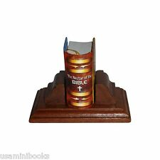 new The Nectar of the Bible Miniature Book Hardbound w/stand 355 pg ribbed spine